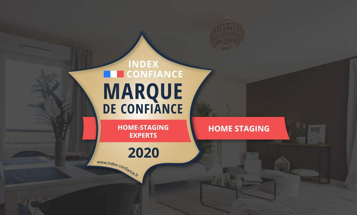Home-Staging Experts reconnu Marque Confiance 2020 catégorie home staging en France